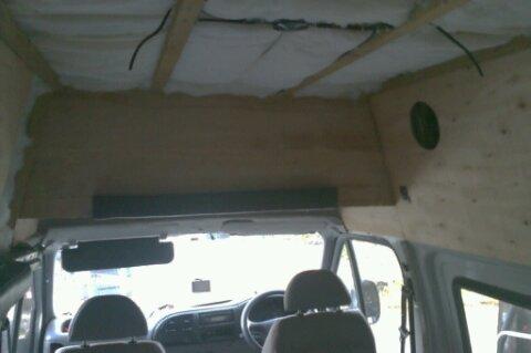 roof battens, 20 tog insulation start opf overhead locker.