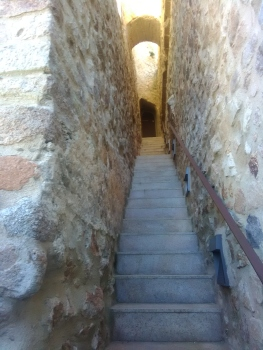 walk way to top of castle and living quaters