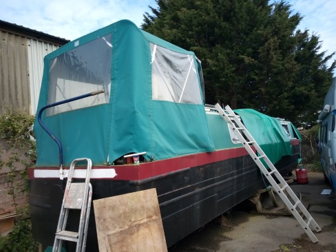 Voyager as we found her April 2019, Hidden away in a lorry compound in Dawlish