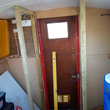 cupboard being installed