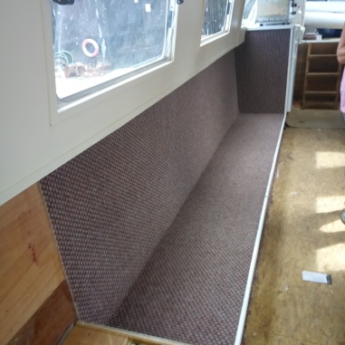bases in with carpet covering