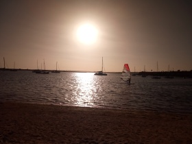 Sunset at the Fishermans Rest Alvor